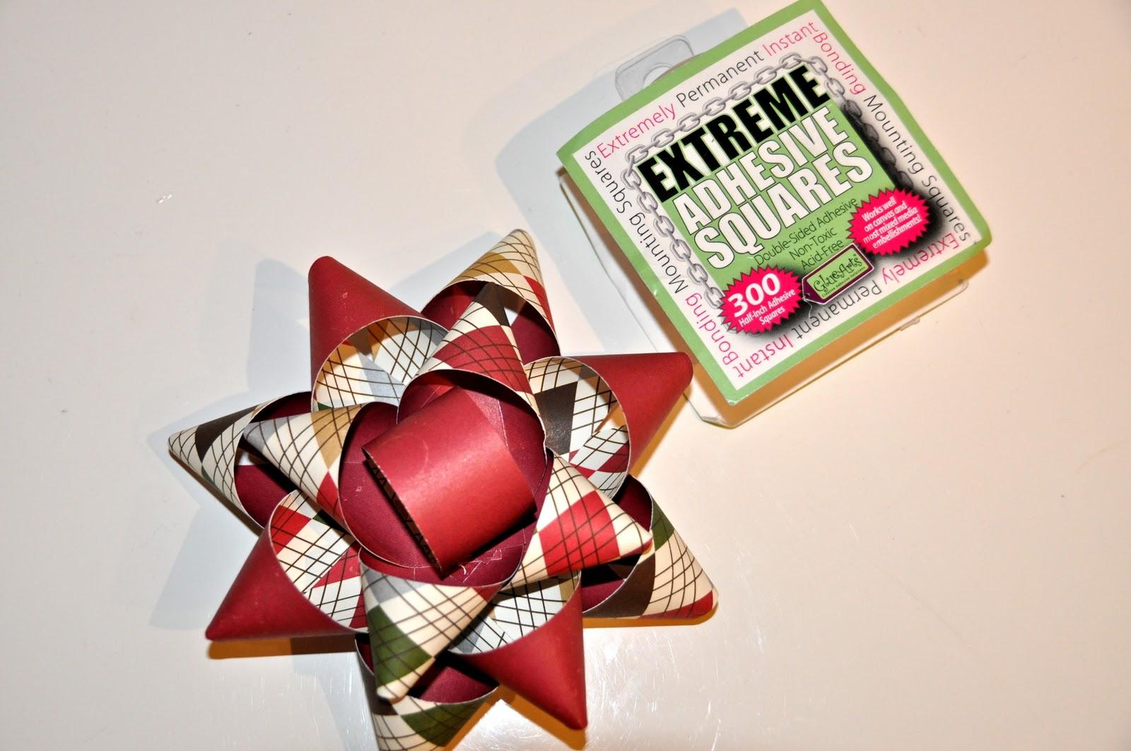 courts crafts diy christmas bows matching tag an card too - Diy Christmas Bows