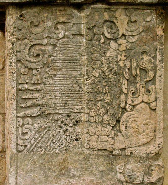 Bird relief carvings
