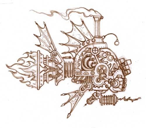 Steampunk Spaceship 2 Life Needs Art