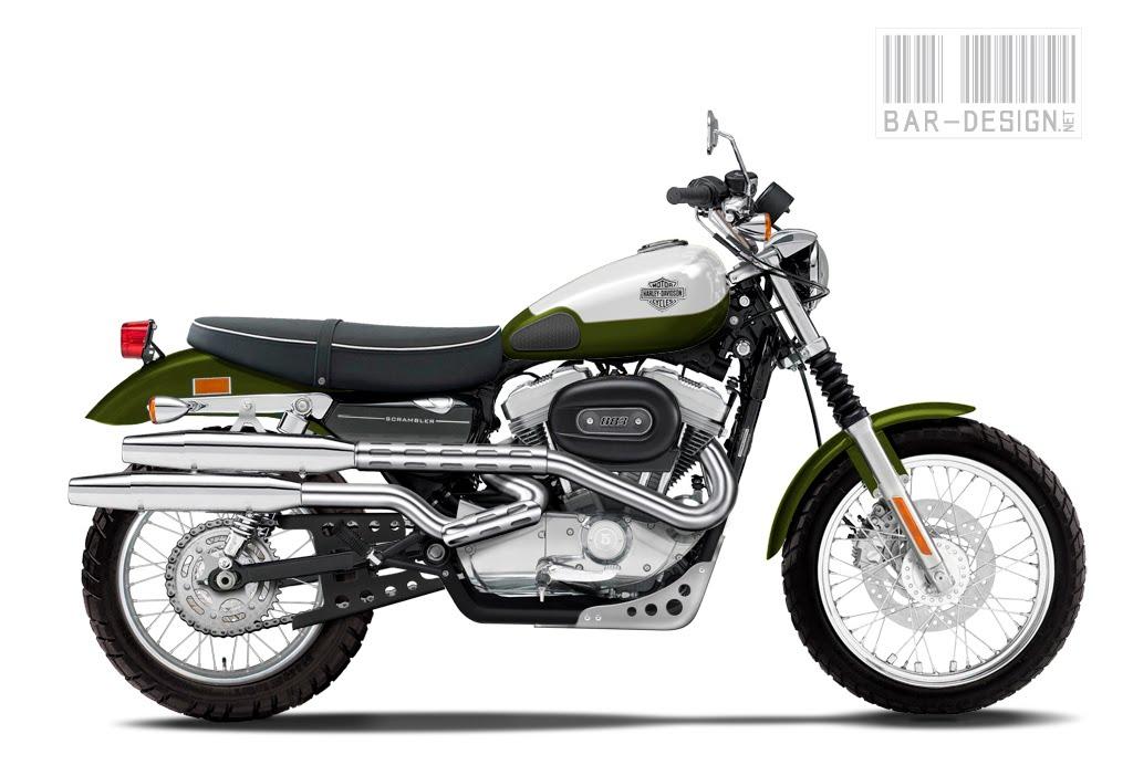 Design Corner - Harley Sportster Scrambler by Luca Bar