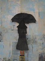 """Paris Rain"" Acrylic on paper"