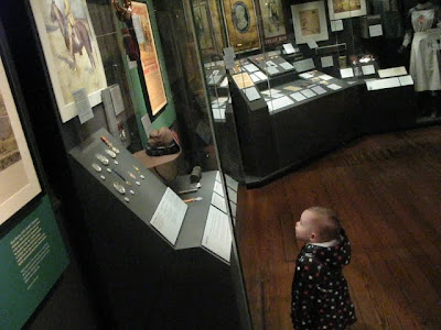j checking out the museum displays