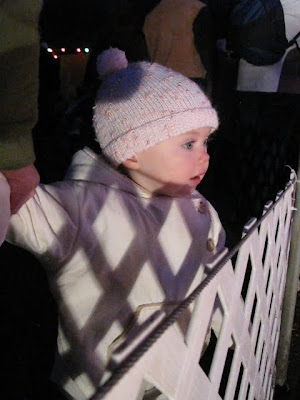 j checking out the lights