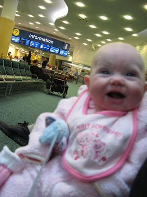 baby j at the airport