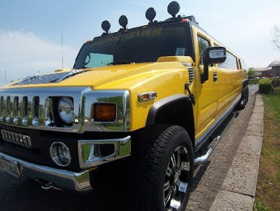 Yellow Hummer H2 Limousine