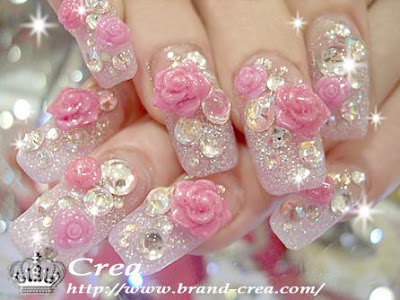 rose - Nail Art....