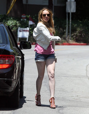 Lindsay Lohan - Crazy Strappy Heels