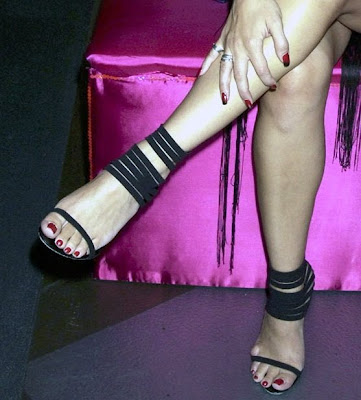 Kym Marsh Strappy Heels - Again
