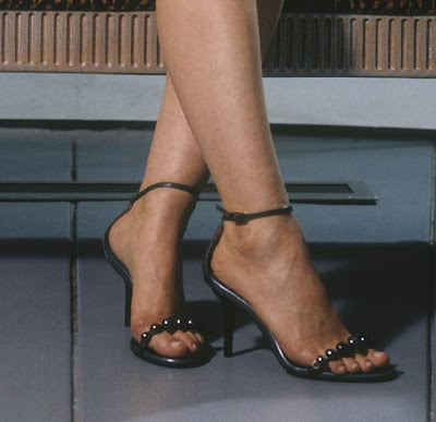 Mena Suvari Starring Gold Stilletos