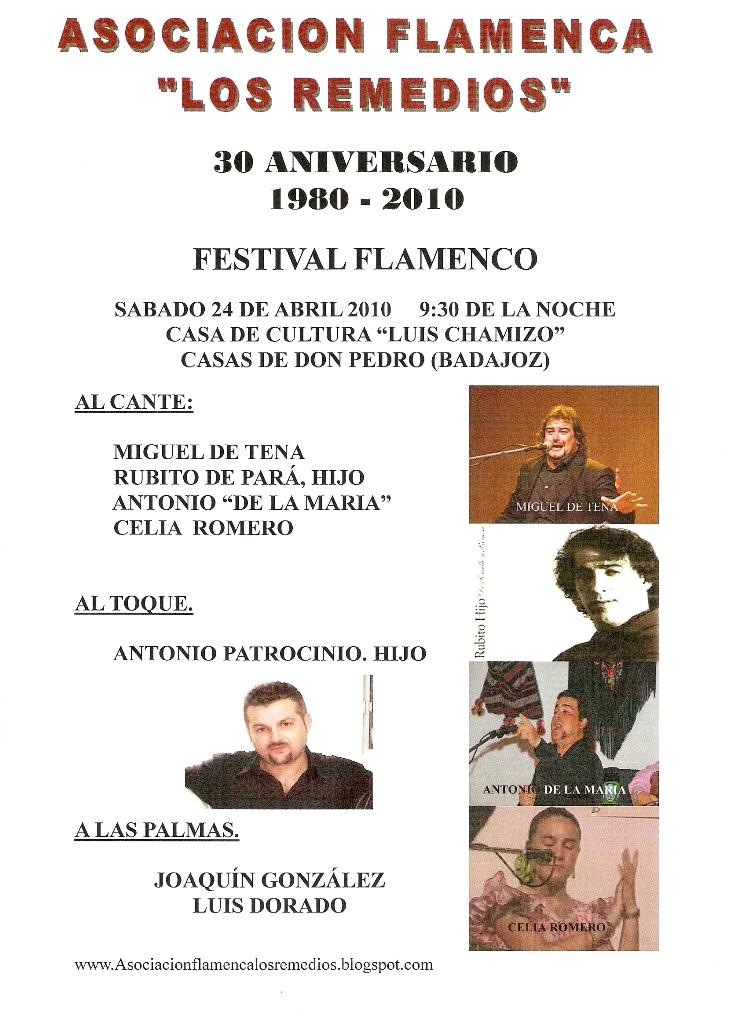 Asociaci n flamenca los remedios gala del 30 aniversario 1980 2010 fundacion asociacion - Casas de don pedro badajoz ...