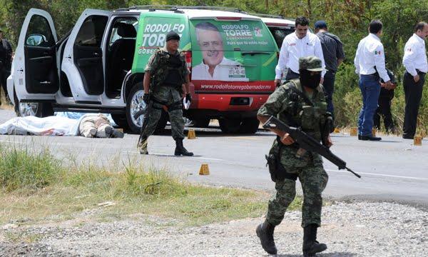 Narco guerra en Tamaulipas, México asesinan al candidato del PRI