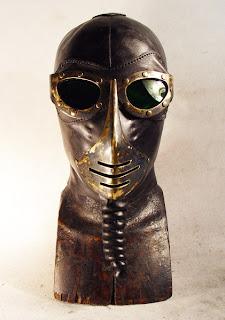 steampunk tarzi deri maske