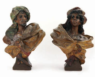 double terracotta busts by depys