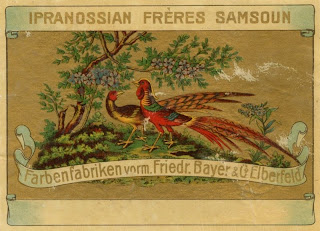 lithograph print fabric label 19th century