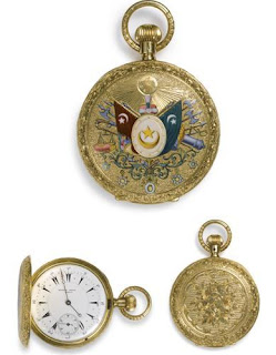 19c ottoman gold enameled watch
