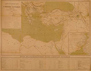 19c map of catholic missions in ottoman empire