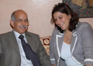 Fatim-Zahra Mansouri Maire Marrakech en compagnie de Biadillah