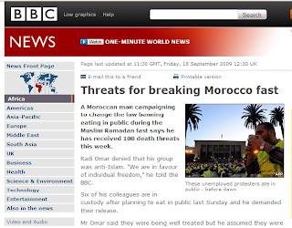 BBC maroc desinformation jeune ramadan