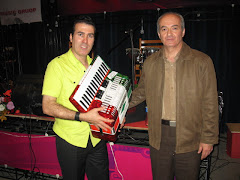Giving NARDIN Accordion To Mr.Rahim Shahriary Famous Azari Singer/Garmon Player