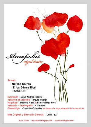 Afiche Amapolas