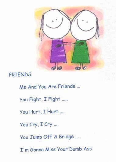 funny poems for friends. funny friendship poems