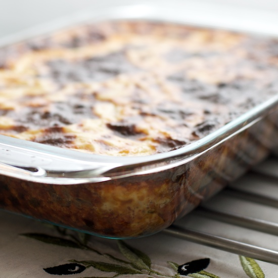 Moussaka with Greek salad