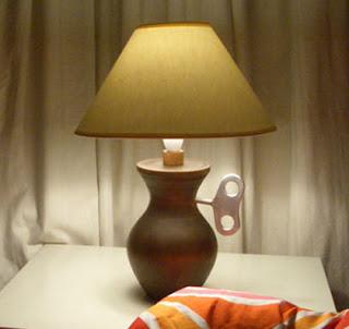 Заводная настольная лампа