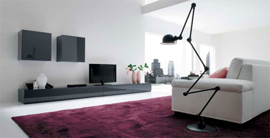 Design decorating minimalist living room concept by dall agnese