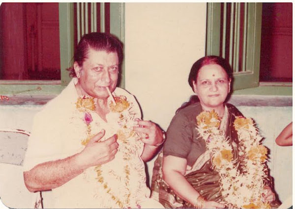 With his wife - Suman Devi Kapoor