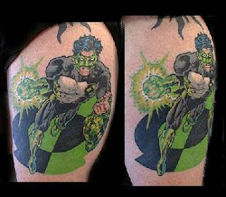 Cartoon Green Lantern Tattoo