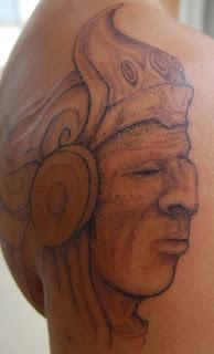 Aztec Style Tattoo