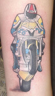 Motorcycle racing tattoos - Biker Tattoo Design