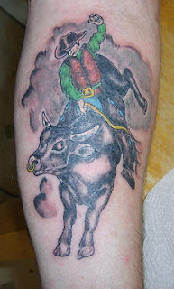 Bull rider Tattoo Picture