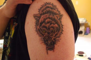 Wolf Tattoo Design on Arms