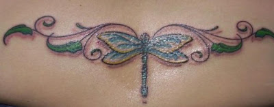 Lower Back Dragonfly Tattoo Design