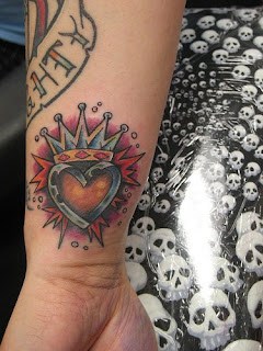 Heart with Crown Tattoo - Arm Tattoo Design