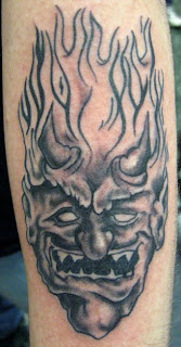 Monster Devil Head Tattoo