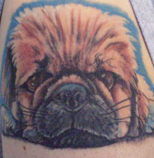 Puppy Dog Portrait Tattoo