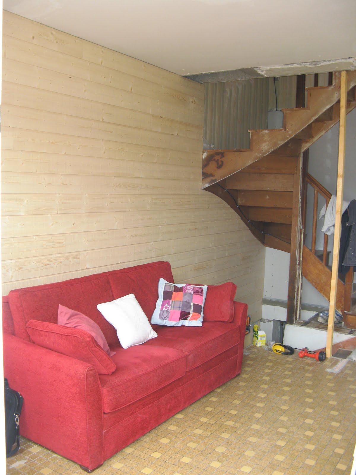 Le blog d 39 elodie salon mur en lambris for Lambris salon