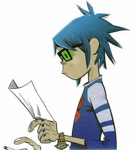 Anime Character 2d : Golden memory time for heroes gorillaz