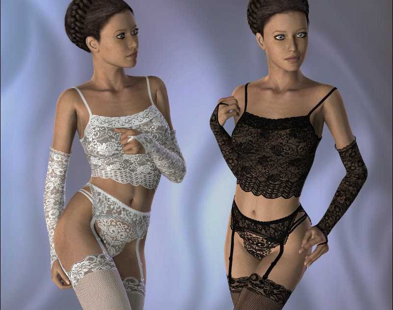 Женское белье с оборками