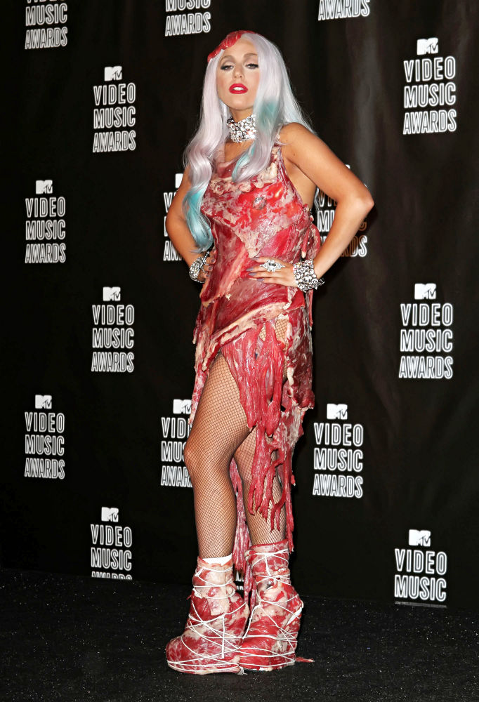 entertainment lady gagameat dress