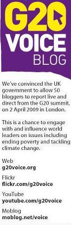 As mídias socias no G20 de 2009