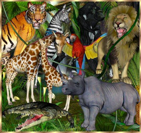 Safari Clip Art 071410» Vector Clip Art - Free Clipart Images
