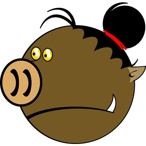 clip art piglet. Pig Clipart 071910