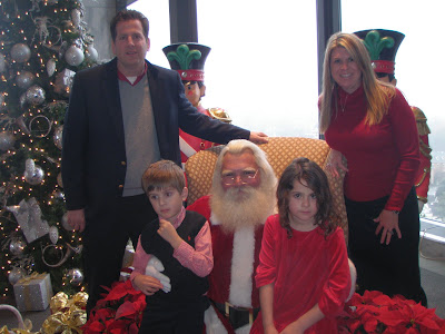 Here we are at the Vinings Club after brunch with Santa.