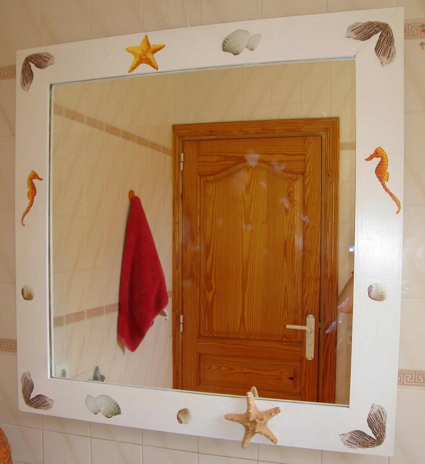 Las manualidades de julia marco para espejo de ba o en - Espejos para manualidades ...