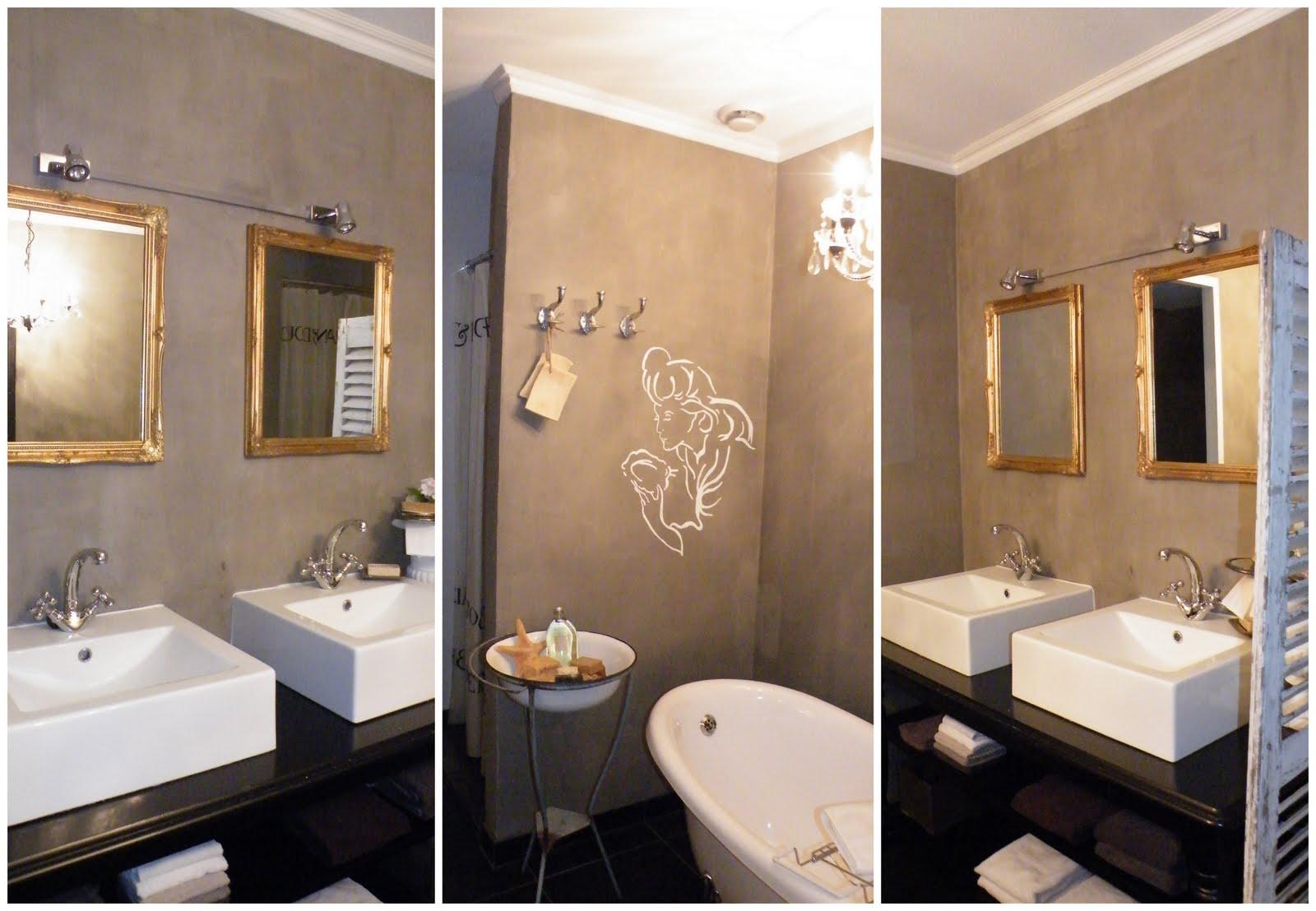 Wandbekleding badkamer badkamers landelijk modern