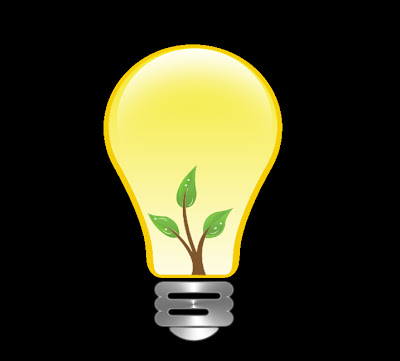 eco friendly bulb drawing