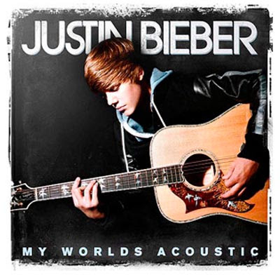 Justin Bieber Bedding  Walmart on Justin Bieber  My Worlds Acoustic  Album Cover